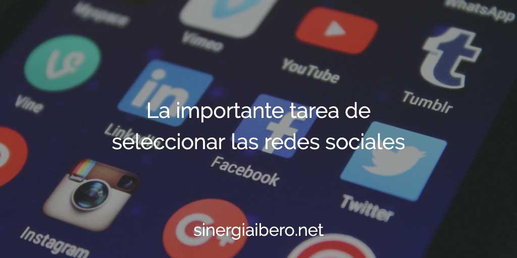 seleccionar las redes sociales